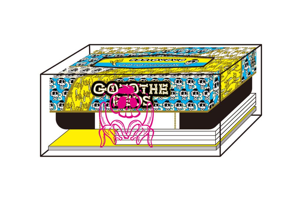 GO TO THE BEDSとPARADISES、1stアルバム超豪華盤は田中秀幸によるクリアティッシュボックス