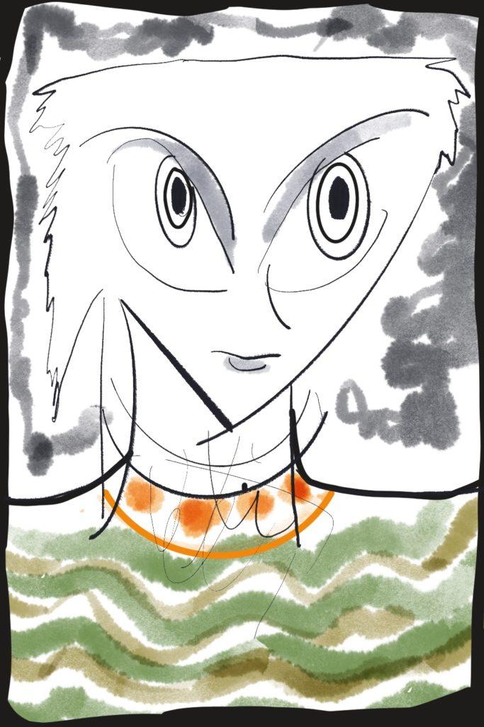 疾走感あふれる作品を手がけるペインター・林香苗武、個展「ストロー」開催